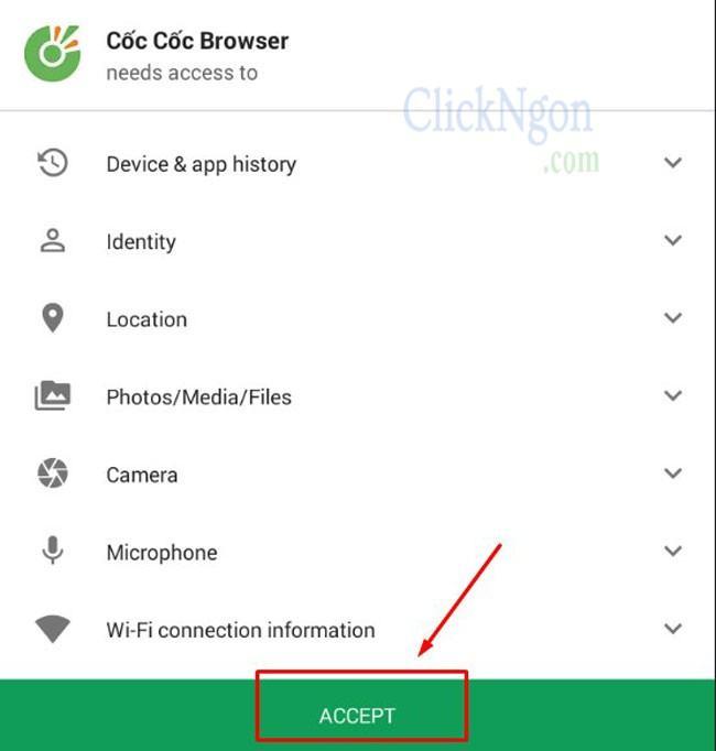 Tải trình duyệt cốc cốc cho điện thoại Android 4