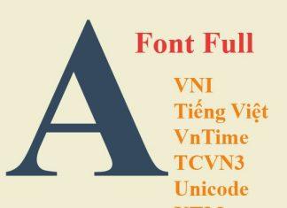 download full font chữ cho win 7,8,10, xp