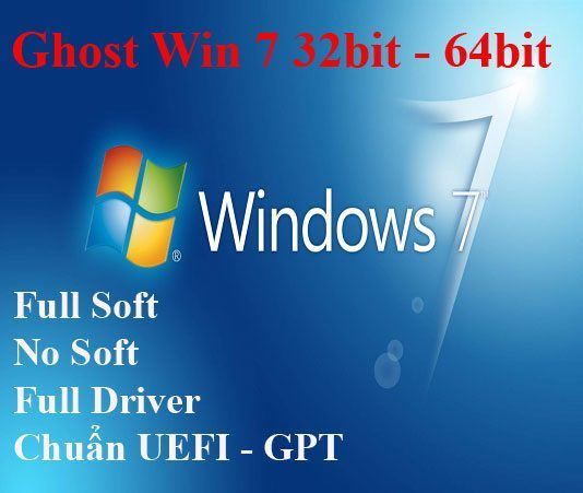 Download Ghost Win 7 32bit, 64bit Nhẹ - Đa Cấu Hình, Full Driver