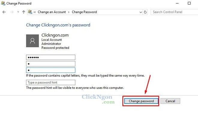mật khẩu màn hình