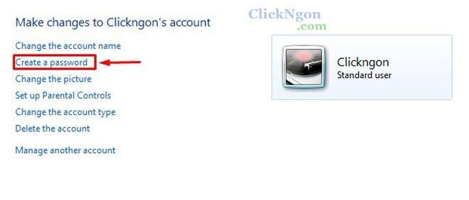 cách đặt mật khẩu - password cho máy tính