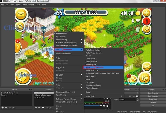 cách chèn khung webcam vào live stream bằng obs studio 1