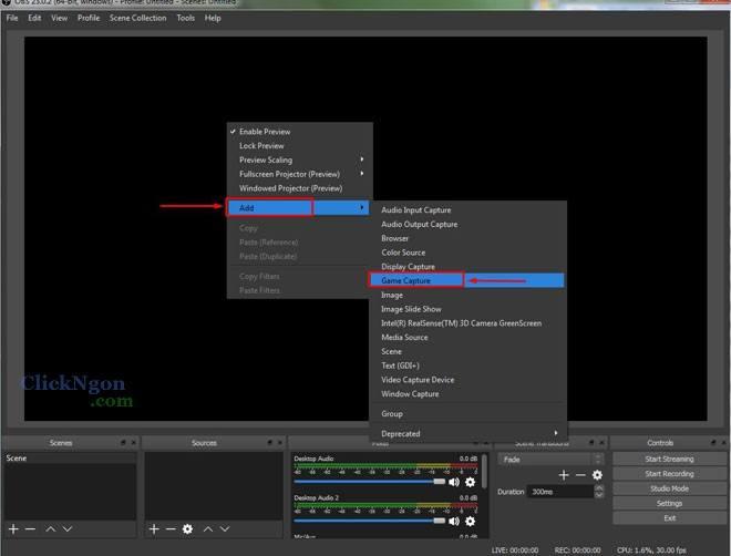 thêm chữ chạy khi phát live stream bằng obs studio