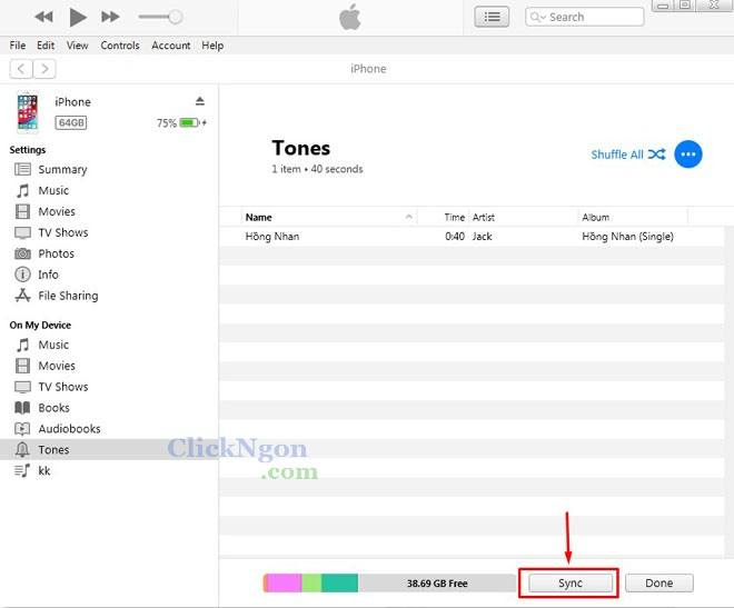 phần mềm cài nhạc chuông điện thoại iphone