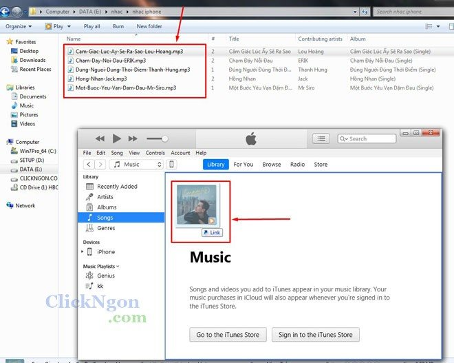 cài nhạc chuông cho điện thoại iphone bằng phần mềm itunes