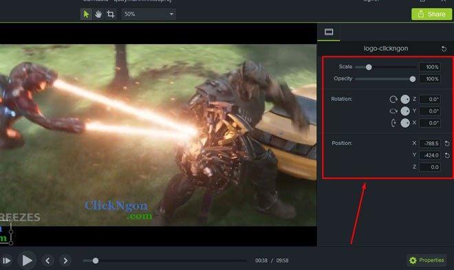 chèn logo vào video camtasia 9