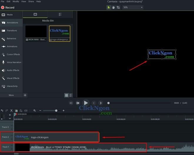 chèn logo vào video bằng camtasia 9