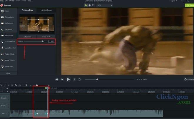 cách phóng to màn hình video