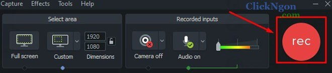 phần mềm quay màn hình camtasia
