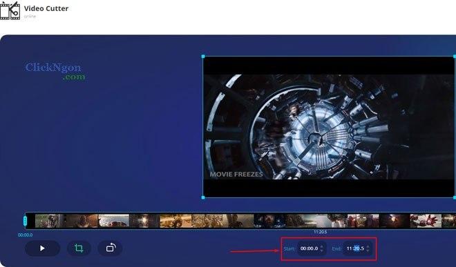 cách cắt video online nhanh