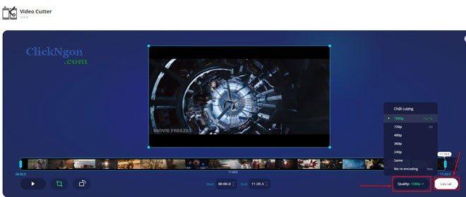phần mềm cắt video trực tuyến trên PC