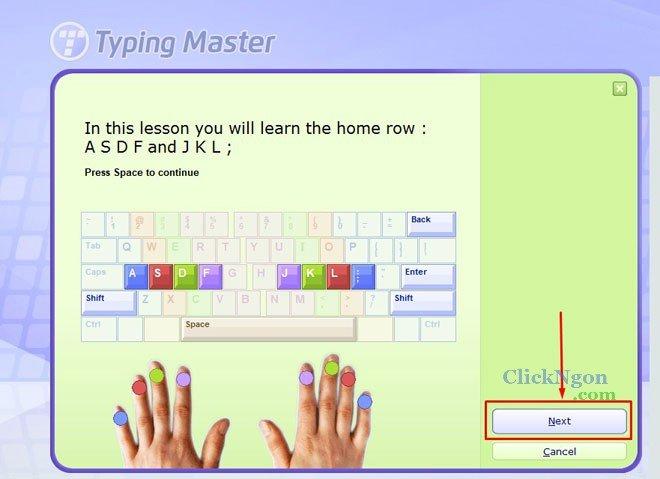luyện gõ phím nhanh bằng typing test