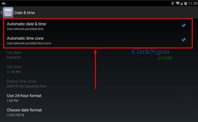fix lỗi không tải được ứng dụng vào lúc này