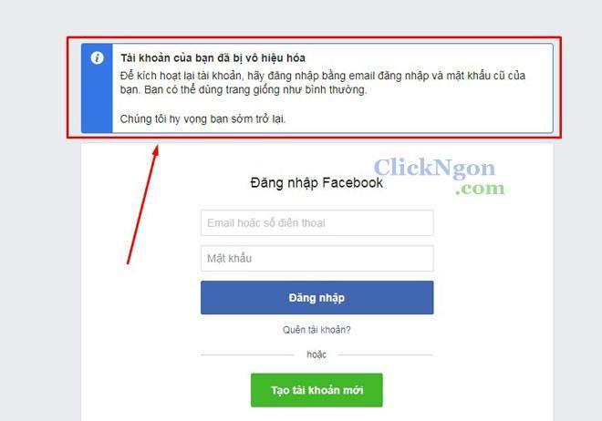 khóa tài khoản fb