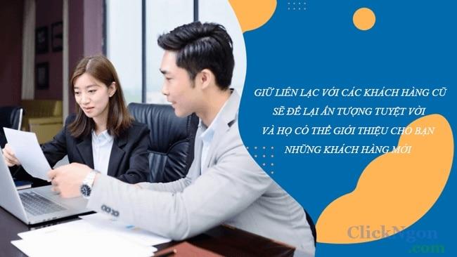cơ hội có nhiều khách hàng nhờ giữ liên lạc với khách hàng cũ